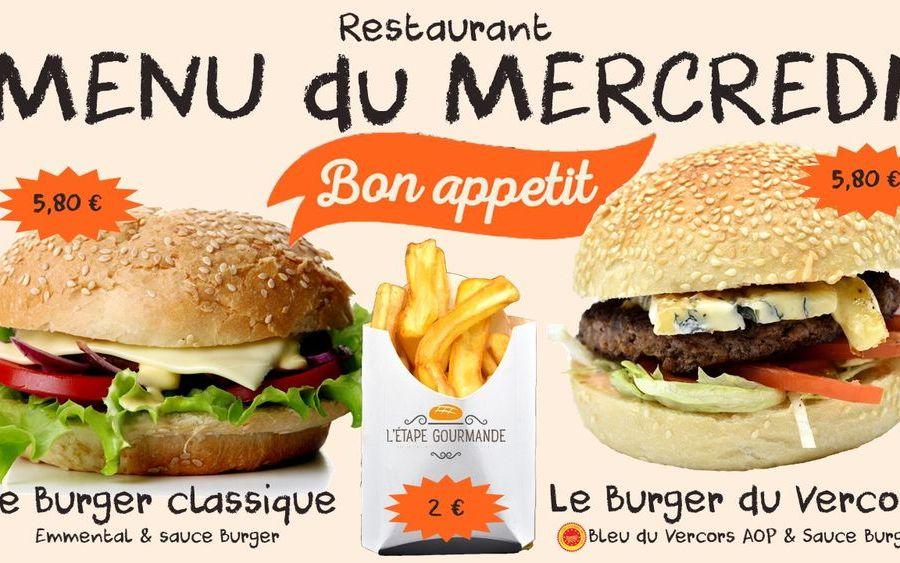 2 Burgers sinon rien le Mercredi !